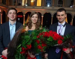 Алексей Иванников, Юлиана Рогачёва, Денис Швытов после выступления в Национальном музее архитектуры в Вашингтоне